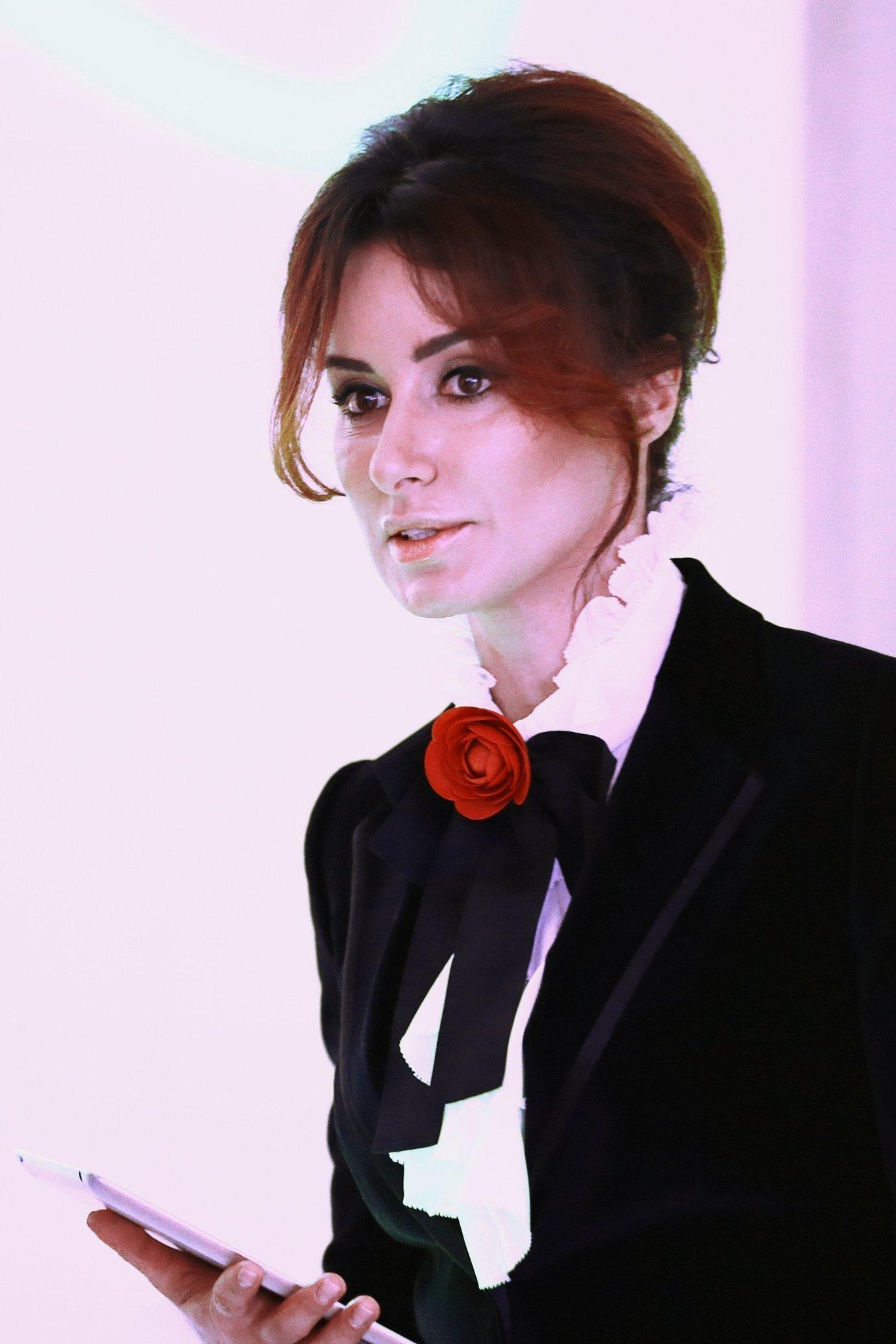 Генеральный продюсер телеканала Матч ТВ, телеведущая Тина Канделаки во время презентации телеканала Матч ТВ