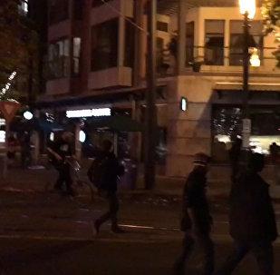 ტრამპის წინააღმდეგ აქციის მონაწილეებმა პორტლენდში მაღაზიების ვიტრინები ჩაამსხვრიეს