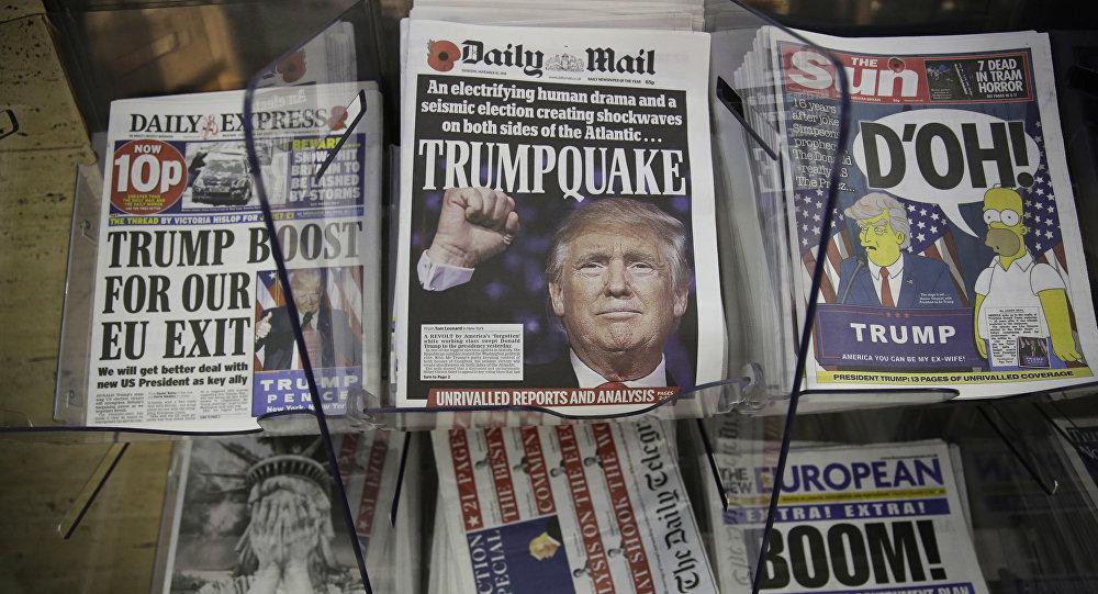 Газеты с портретом Дональда Трампа на первых полосах