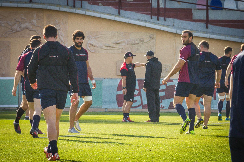 Тренировка сборной Грузии по регби