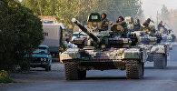 Колонна танков азербайджанской армии