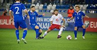Момент игры сборных Грузии и Молдовы