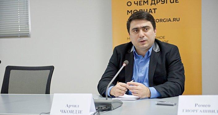 Арчил Чкоидзе в Тбилисском Международном пресс-центре