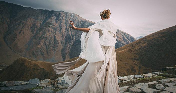 Невеста в горах Грузии