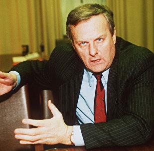 Мэр Санкт-Петербурга Анатолий Собчак - фото сделано в 1991 году