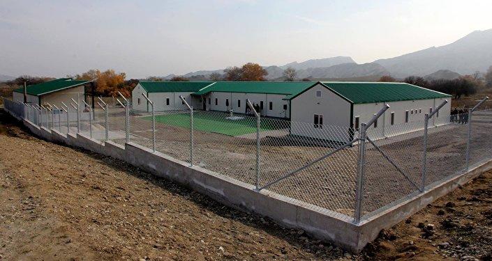 Новое здание Погранполиции Грузии на грузино-азербайджанской границе