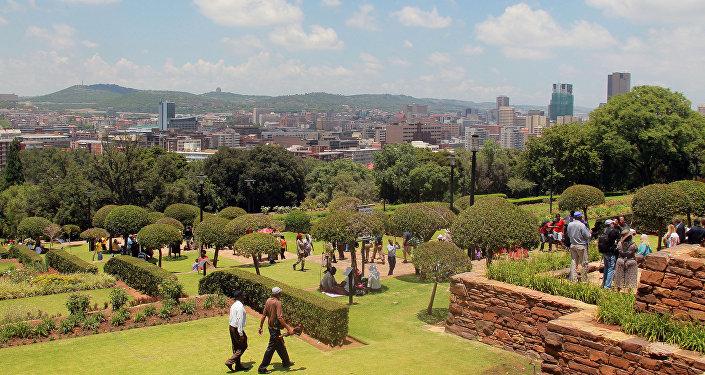 Вид города Претория в ЮАР