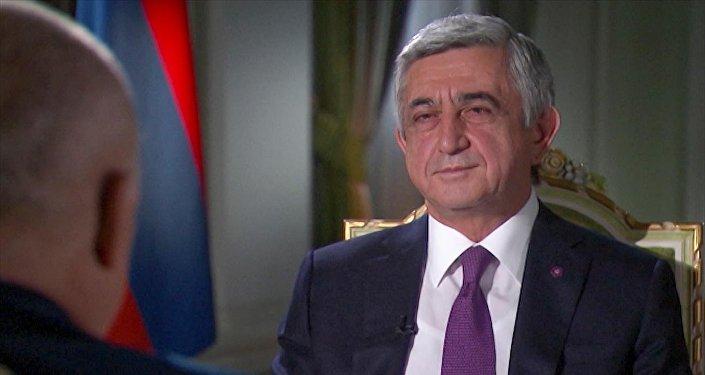 Серж Саргсян дал интервью Дмитрию Киселеву для Sputnik Армения