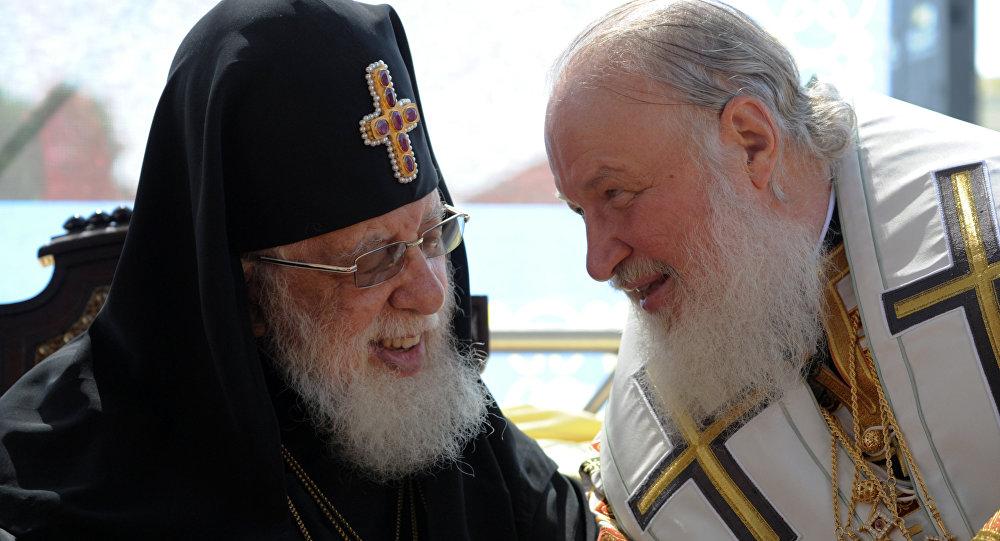 Патриарх Московский и всея Руси Кирилл и патриарх всея Грузии Илия