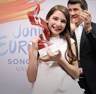 Мариам Мамадашвили, победившая на детском Евровидении