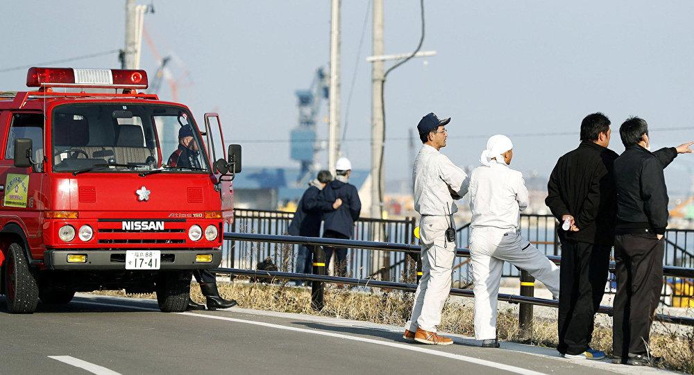 Появилось видео мощного землетрясения ицунами вЯпонии