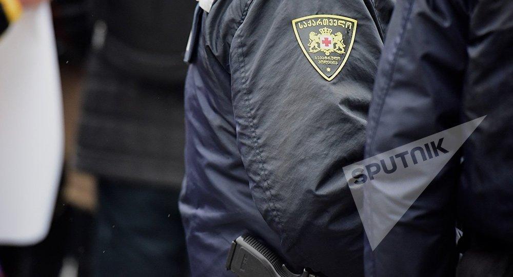 Сотрудники грузинской полиции на месте преступления