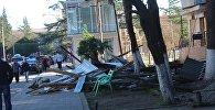 Ветер повалил деревья в Озургети