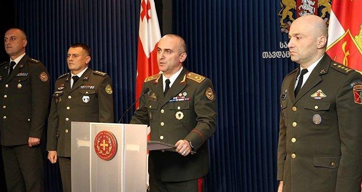 Глава Генштаба ВС Грузии Владимир Чачибая представил своих заместителей