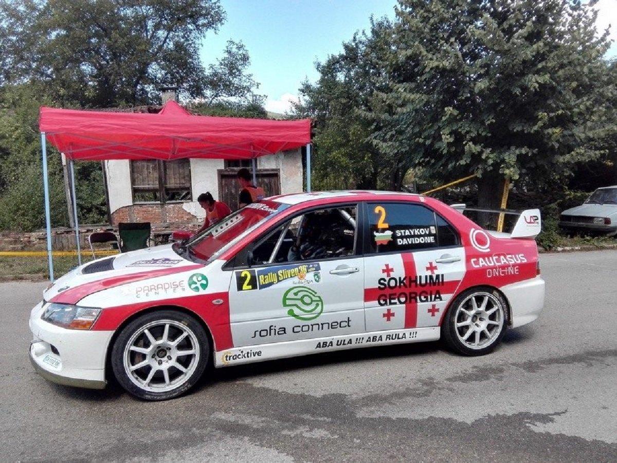 Машина автогонщика Давида Кварацхелия