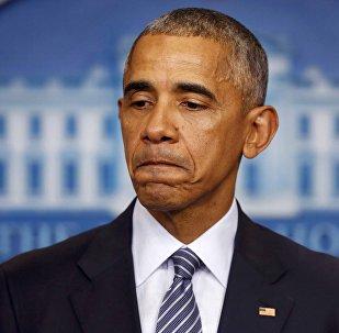 Президент США Барак Обама принимает участие в пресс-конференции в Белом доме