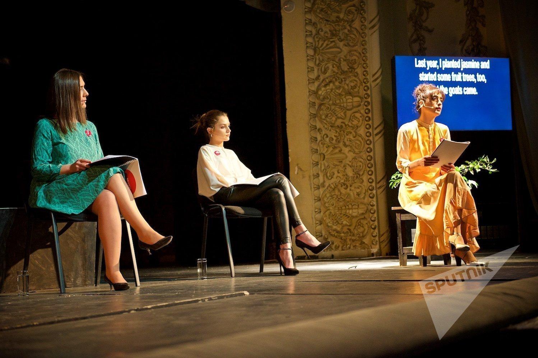 ქალთა უფლებების მხარდამჭერი სპექტაკლი შვიდი კოტე მარჯანიშვილის სახელობის თეატრის სცენაზე