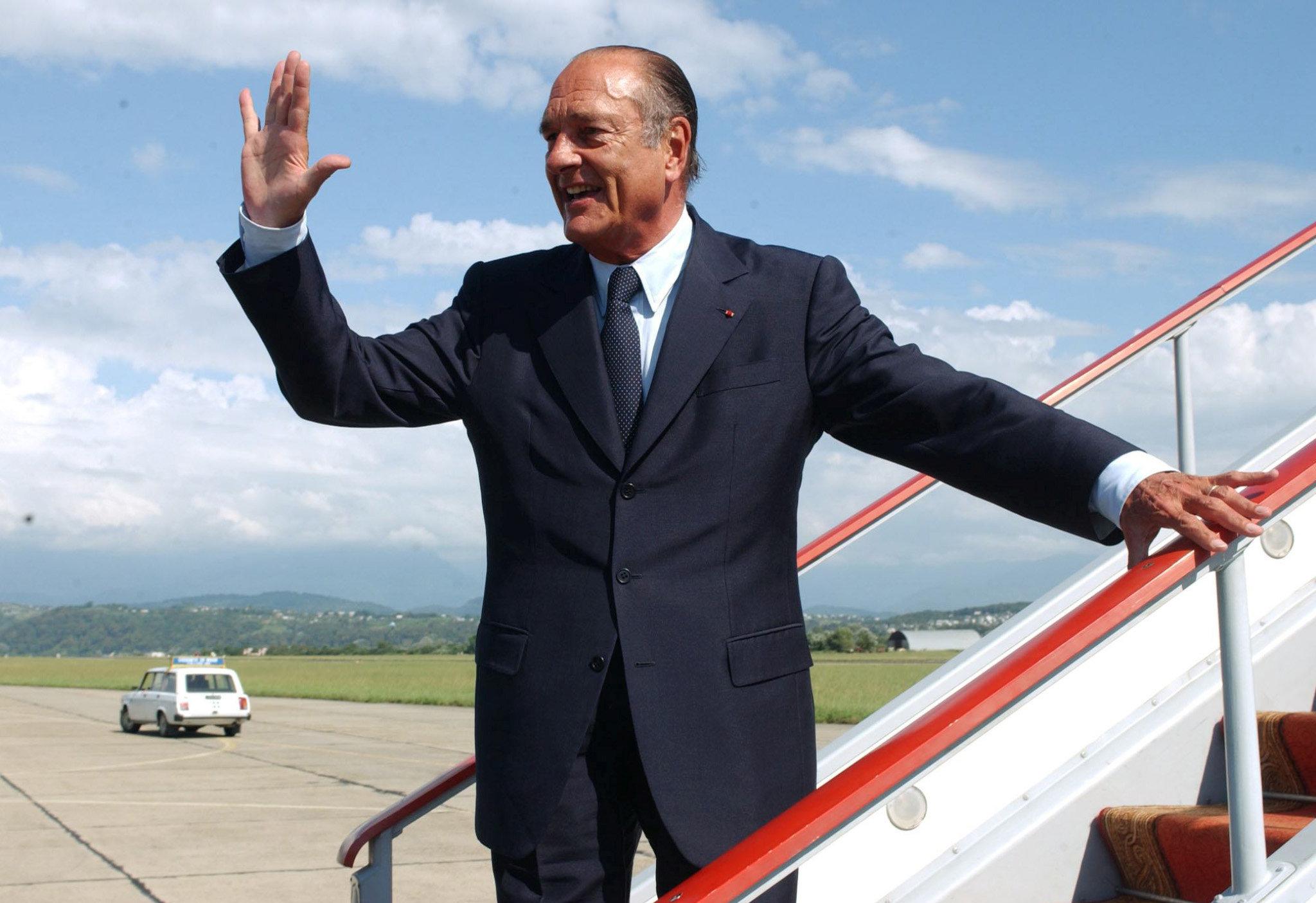 საფრანგეთის პრეზიდენტი ჟაკ შირაკი სოჭში
