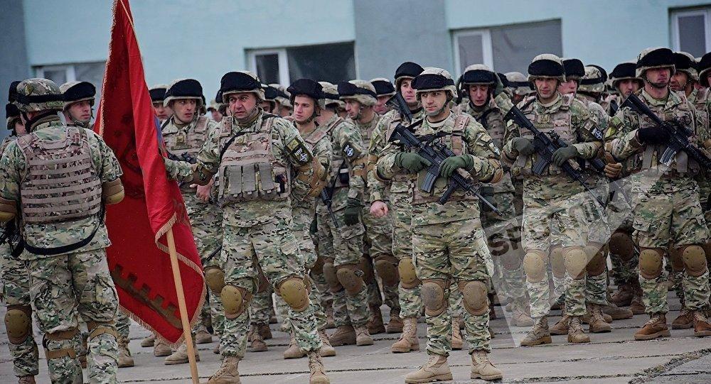 Одно из подразделений грузинской армии