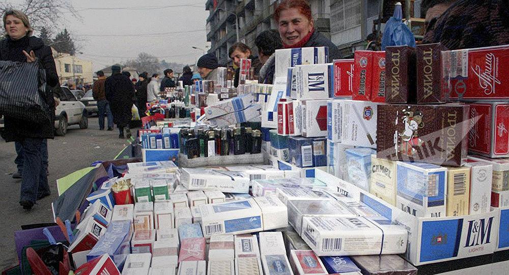 Уличная торговля в Тбилиси