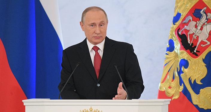 Президент России Владимир Путин обращается к Федеральному собранию