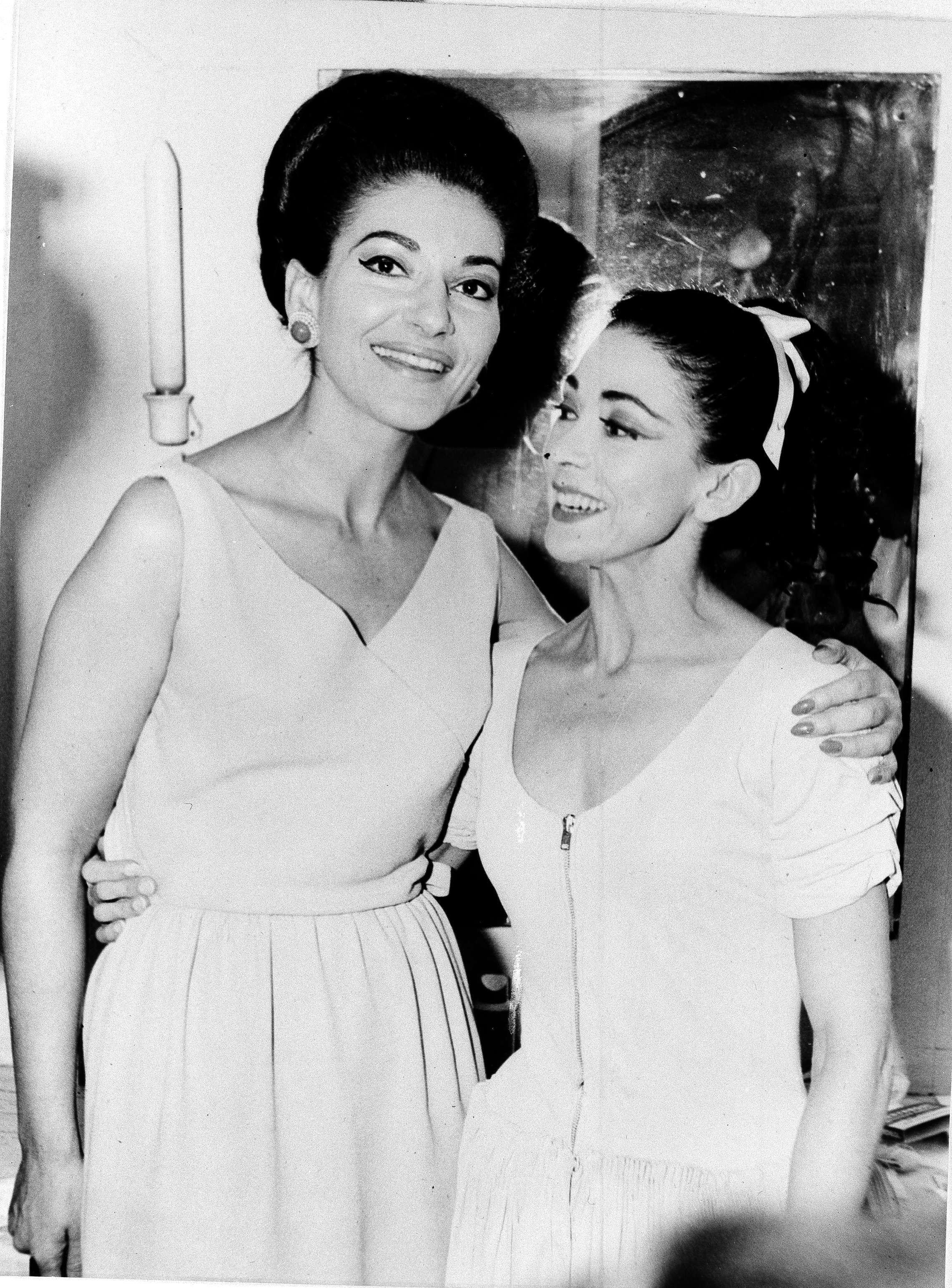 მარია კალასი პრიმა-ბალერინა მარგო ფონტეინთან ერთად