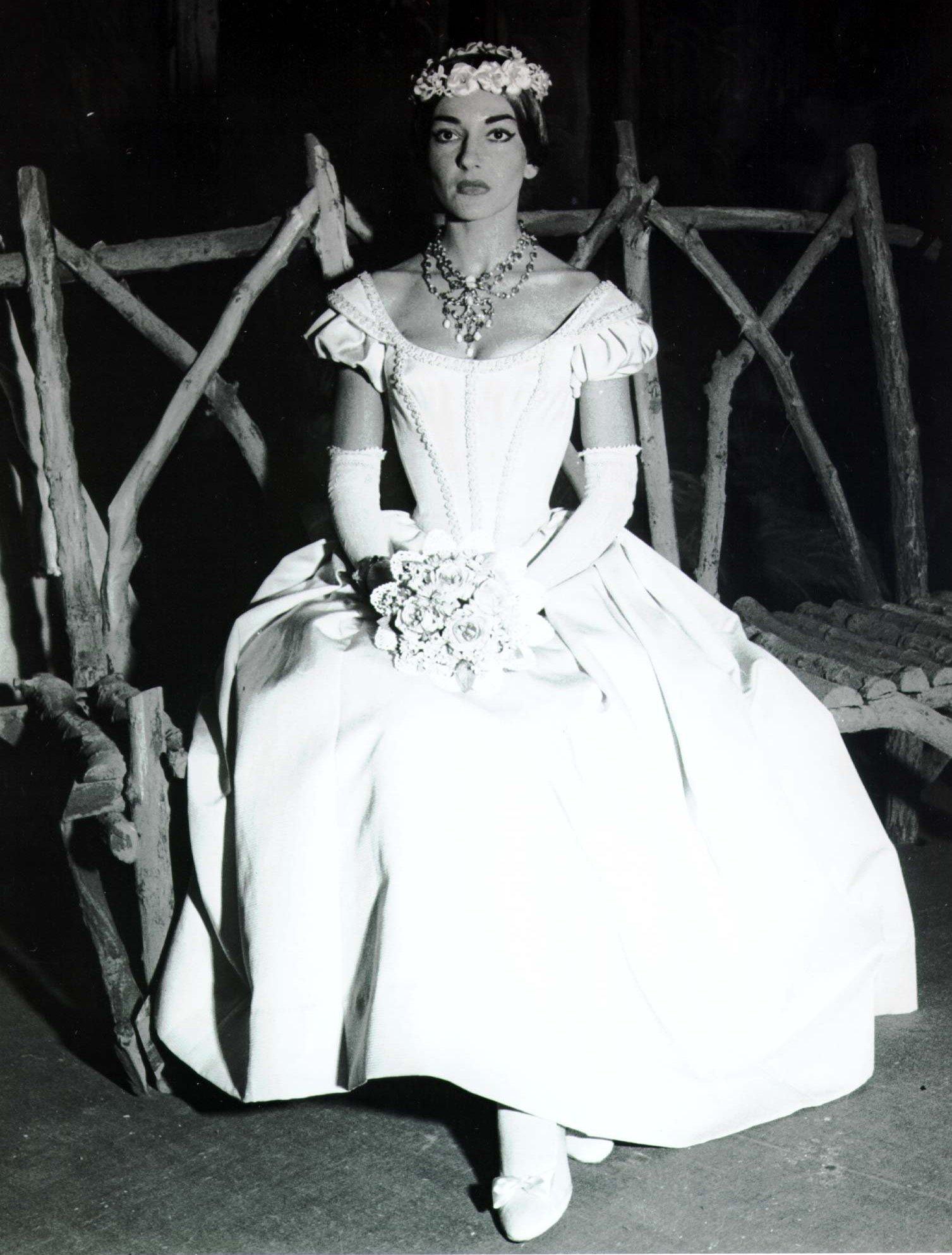 მარია კალასი იტალიაში 1955 წელი.