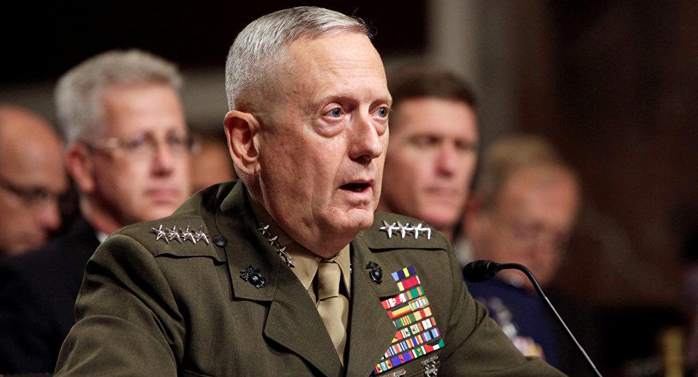Генерал Джеймс Маттис выступает перед Комитетом Сената по вооруженным силам в Вашингтоне
