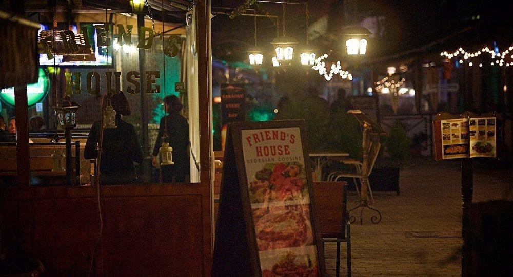 Одно из кафе в центре грузинской столицы