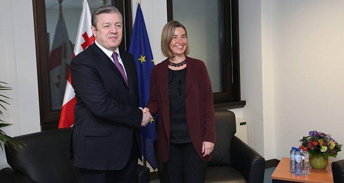 Георгий Квирикашвили и Федерика Могерини