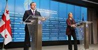 Премьер-министр Грузии Георгий Квирикашвили и глава дипломатии ЕС