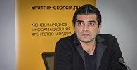 Гия Джваршеишвили во время видеомоста, посвященного проблеме лиц с ограниченными возможностями