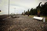 Шторм в Батуми нанес ущерб бульвару