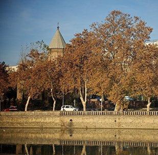 Набережная Тбилиси зимой