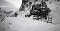 Расчистка Военно-Грузинской дороги, архивное фото