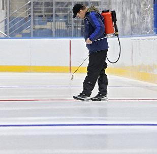 Подготовка спортивного комплекса Чижовка-Арена к Чемпионату мира по хоккею