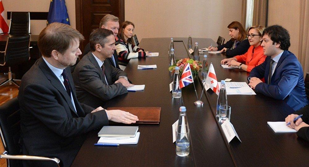 Встреча представителей группы дружбы с Грузией парламента Великобритании с Ираклием Кобахидзе