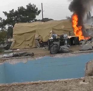 В Алеппо боевики обстреляли госпиталь Минобороны РФ. Съемка очевидцев