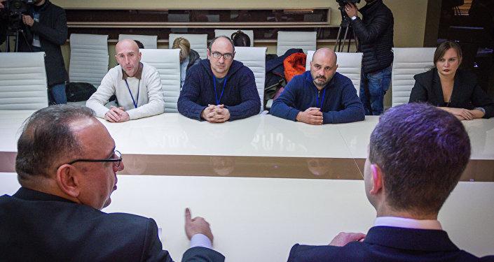 Ираклий Геденидзе, Георгий Абдаладзе, Зураб Курцикидзе и Натия Гегенидзе