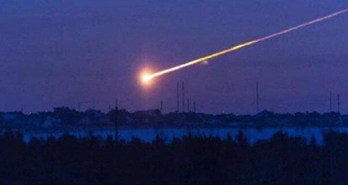 Пролет метеорита над Саяногорском