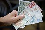 Купюры грузинской валюты - лари различного номинала