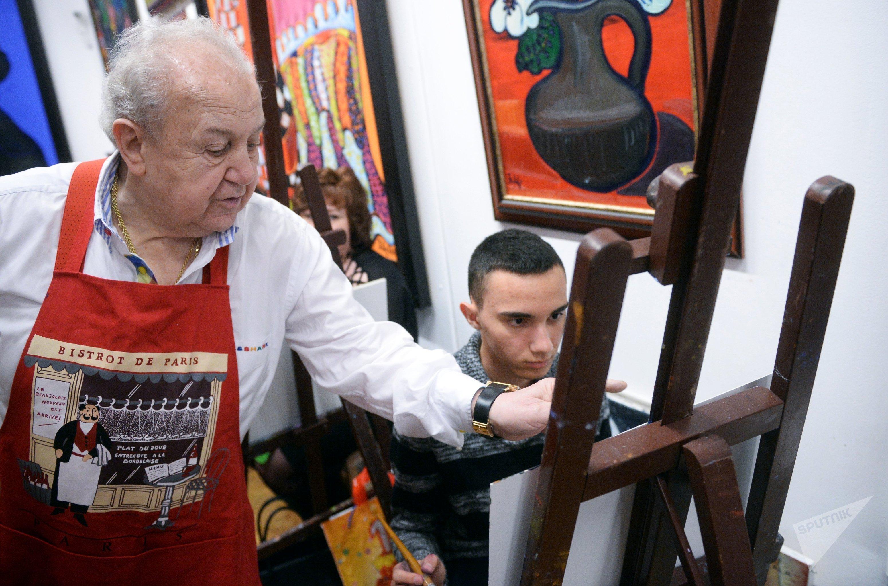 Мастер-класс президента Российской академии художеств З.К.Церетели