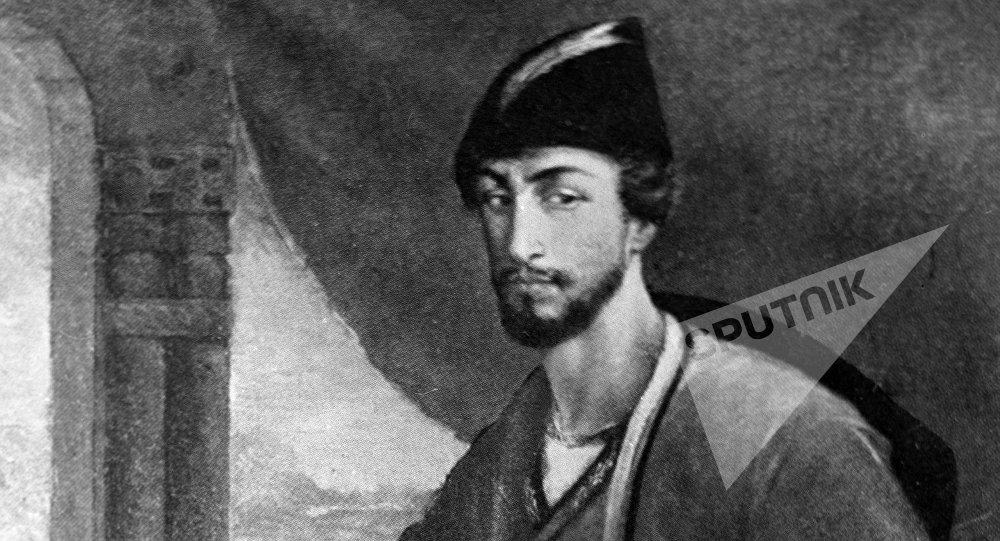 Репродукция картины грузинского художника Уча Джапаридзе Портрет Шота Руставели