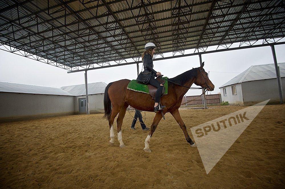 გოგონა ცხენზე, საცხენოსნო კლუბი სპირიტი