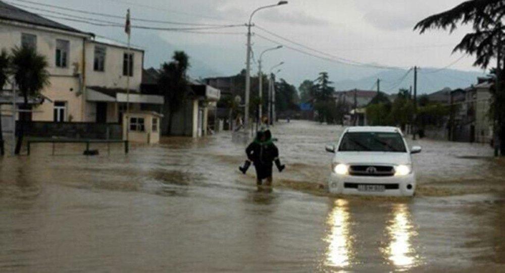 ძლიერი წვიმა დასავლეთ საქართველოში