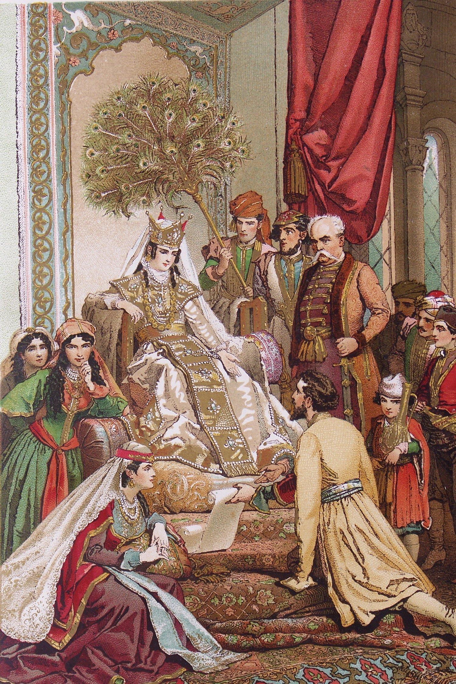 Михай Зичи Руставели передает свое творение царице Тамар