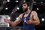 Борец греко-римского стиля Владимир Гегешидзе (Грузия) принимает участие в летних Олимпийских играх в Лондоне в 2012 году