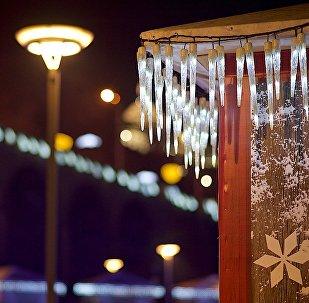 Новогодняя иллюминация в центре Тбилиси