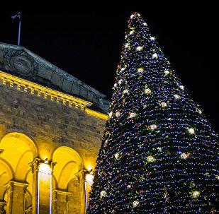 Новогодняя елка в центре грузинской столицы