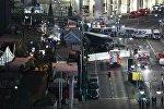 Место теракта в Берлине, где грузовик врезался в толпу людей на рождественской ярмарке